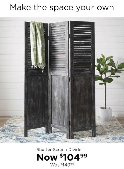 $104.99 Shutter Screen Divider from Kirkland's
