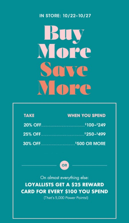 Buy More, Save More from Bloomingdale's