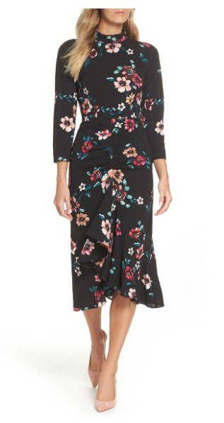Floral Ruffle Midi Dress from Nordstrom