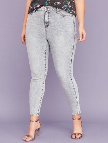 Ultimate Stretch High-Rise Skinny Jean - Acid Wash from Lane Bryant