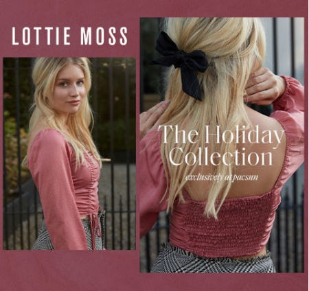 New Lottie Moss Holiday Collection from PacSun