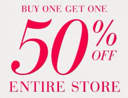 Buy One, Get One 50% Off Entire Store