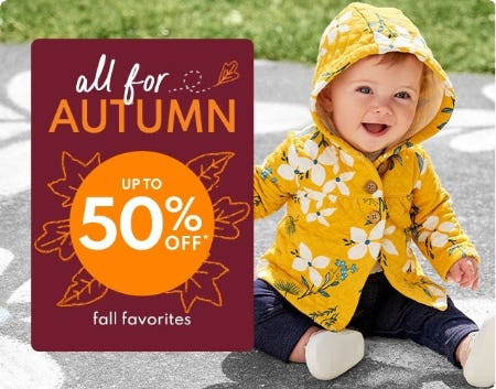Up to 50% Off Fall Favorites from Carter's