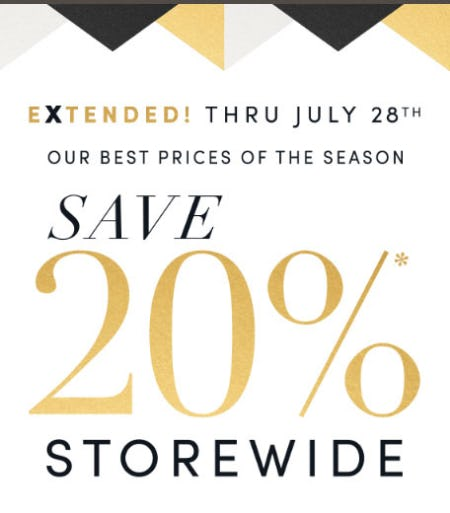 20% Off Storewide from Jared Galleria Of Jewelry