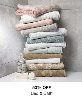 50% Off Bed & Bath