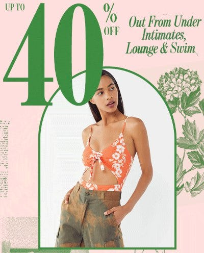 Up to 40% Off Out from Under Intimates, Lounge & Swim from Urban Outfitters