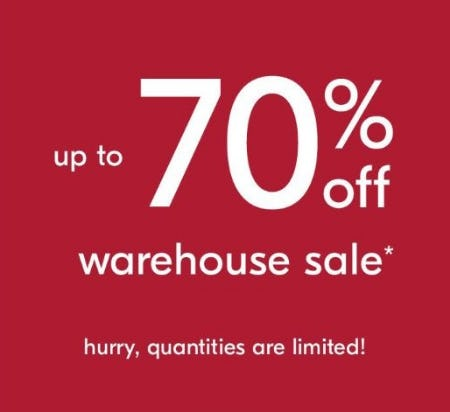 Warehouse Sale: Up to 70% Off from West Elm