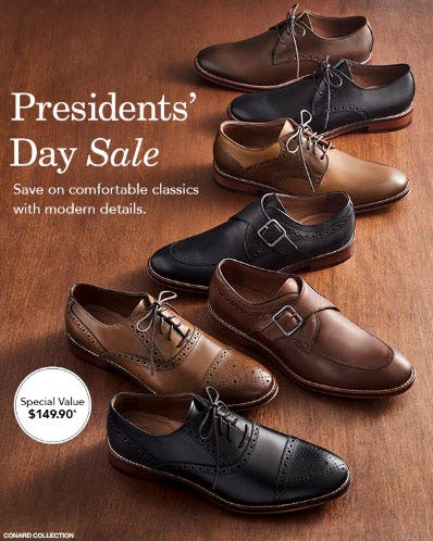 Presidents' Day Sale from JOHNSTON & MURPHY