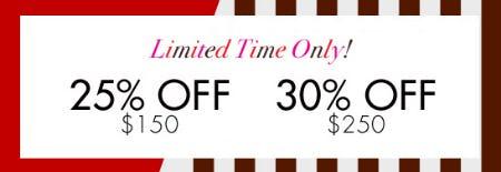 25% Off $150 & 30% Off $250 from Henri Bendel