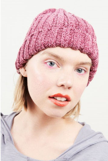 Pink Chenille Beanie from Earthbound Trading Company