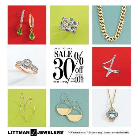Fall In  Love Sale from Littman Jewelers