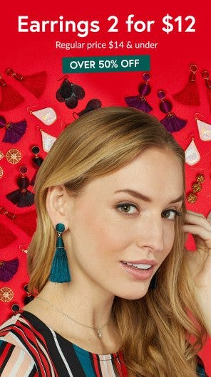 2 for $12 Earrings from Charming Charlie