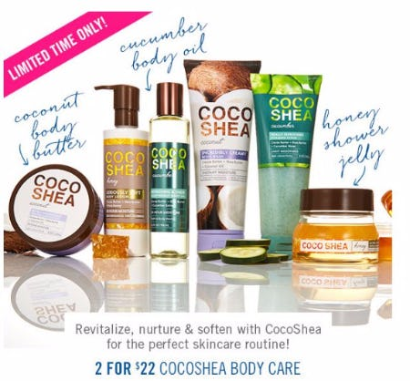 2 for $22 CocoShea Body Care
