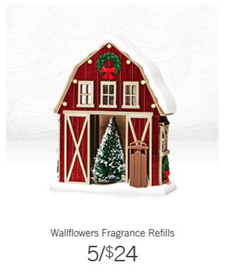 Wallflowers Fragrance Refills 5 for $24 from Bath & Body Works/White Barn