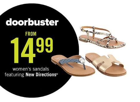 Women's Sandal from $14.99 from Belk