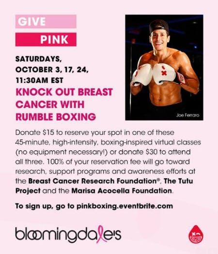 Knock Out Breast Cancer with RUMBLE BOXING