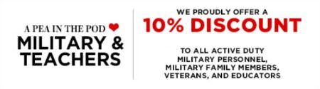 Military & Teachers 10% Discount from A Pea In The Pod, Maternity Redefined
