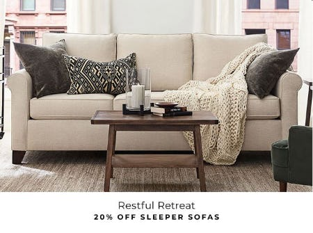 20% Off Sleeper Sofas from Pottery Barn