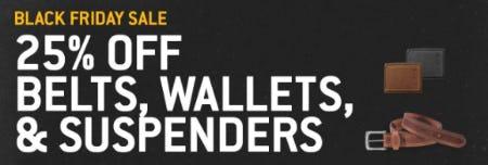 25% Off on Belts, Wallets & Suspenders from Carhartt