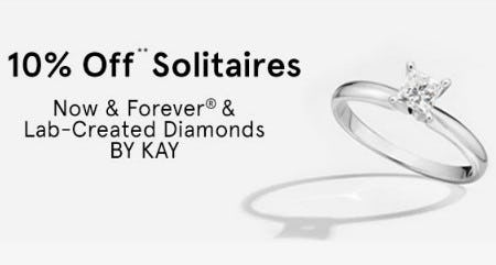 10% Off Solitaires from Kay Jewelers
