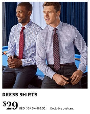$29 Dress Shirts from Jos. A. Bank