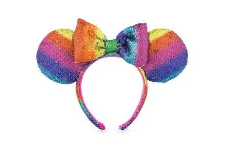 Minnie Mouse Ear Headband - Rainbow from Disney Store