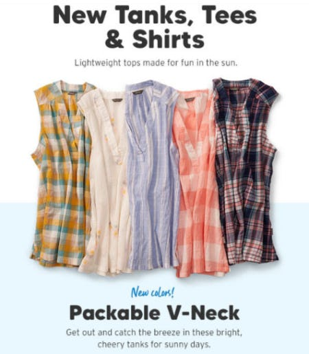 New Tanks, Tees & Shirts from Eddie Bauer