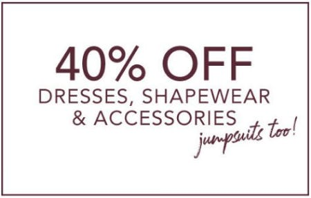 40% Off Dresses, Shapewear & Accessories from Lane Bryant