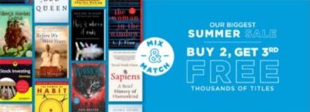 Buy 2, Get 3rd Free Thousands of Titles