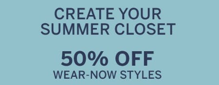 50% Off Wear-Now Styles from Dressbarn