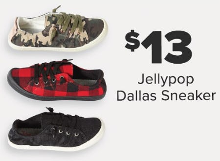 $13 Jellypop Dallas Sneaker from Belk