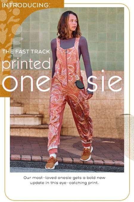 Introducing: The Fast Track Printed Onesie from Free People