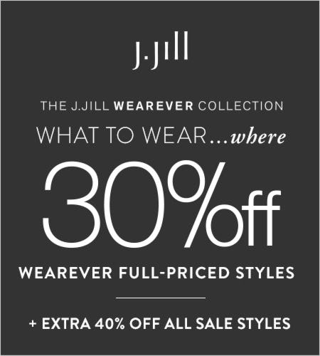 30% off* Wearever Full-Priced Styles from J.Jill
