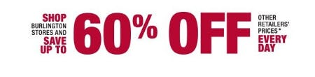 Save up to 60% Off Other Retailers Prices Every Day