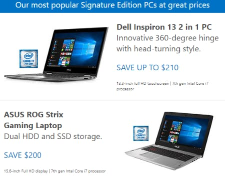 Save on Popular Signature Edition PCs