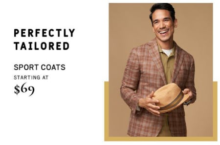 Sport Coats Starting at $69