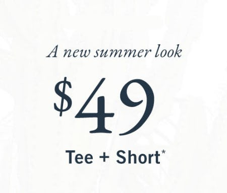 $49 Tee & Short from Abercrombie & Fitch