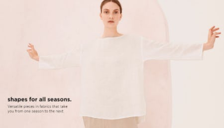 Shapes For All Seasons from Eileen Fisher