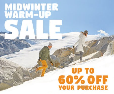 Up to 60% Off Midwinter Warm-Up Sale from Eddie Bauer