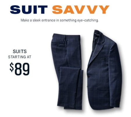 Suits Starting at $89 from Men's Wearhouse
