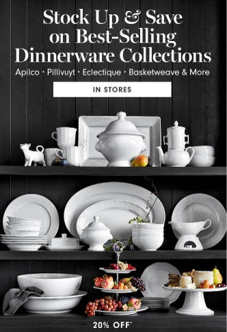 20% Off Dinnerware Collections from Williams-Sonoma