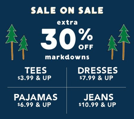 Extra 30% Off Markdowns from Gymboree