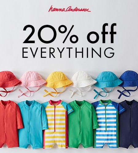 20% OFF EVERYTHING from Hanna Andersson