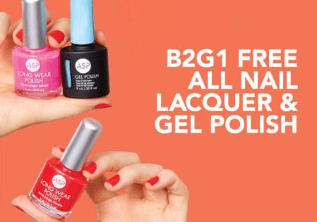 B2G1 Free All Nail Lacquer & Gel Polish