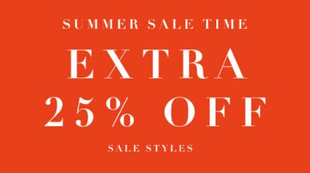 Extra 25% Off Summer Sale from Everything But Water