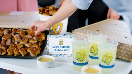 Celebrate National Pretzel Day with $25 off Catering from Auntie Anne's from Auntie Anne's