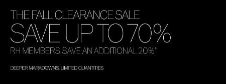 Up to 70% Off The Fall Clearance Sale