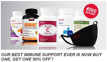 BOGO 50% Off Immune Support from GNC