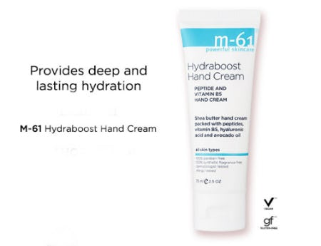 M-61 Hydraboost Hand Cream from Blue Mercury