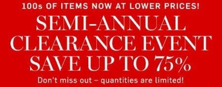 Semi-Annual Clearance Event